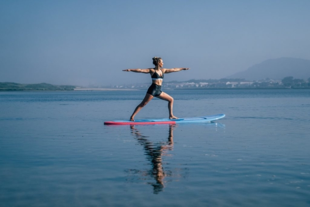 Yoga SUP session at Portugal Margot Zoer